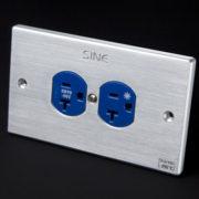 sineworld wall ac outlet SW-2LP US (Platinum) 3